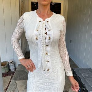 Lace up gown dress